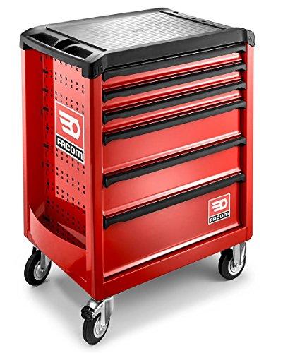 Facom Primetools - Meuble de rangement à roulettes - 6 tiroirs - 6 mètres cubes - Rouge