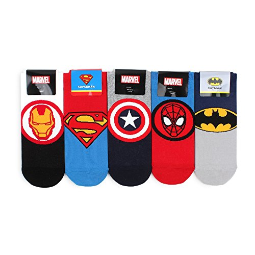 Marvel DC Comics Official Socks (5 Pairs) NA