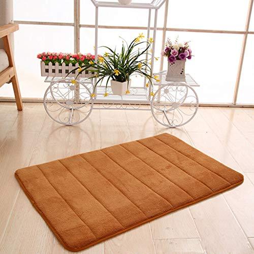 Scrolor Memory Foam Matte für Wohnzimmer Dekoration Absorbierend rutschfeste Pad Badezimmer Dusche Badematten Türbereich Teppiche(Khaki,40 x 60cm)