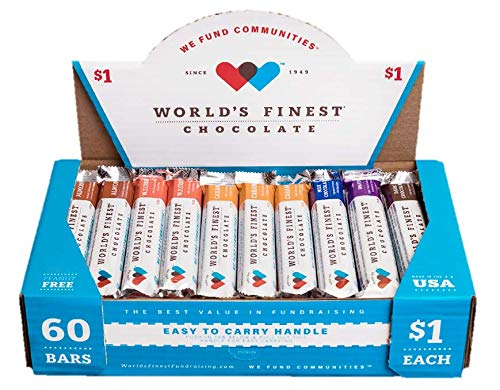 World's Finest Chocolate - 60 Candy Bar Fundraising Variety Pack with NEW Wafer Bar Flavor