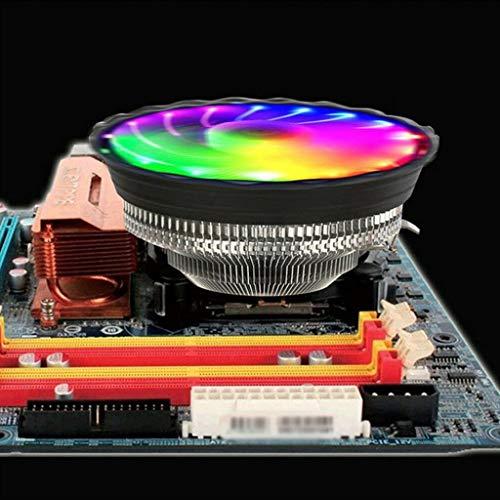 Viesky Ventilador de refrigeración silencioso con luz LED RGB para LGA 775 AM2