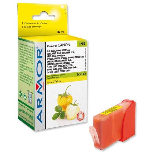 Armor Tintenpatrone kompatibel zu Canon BCI3Y/BCI6Y/K12313 yellow BCI3/6
