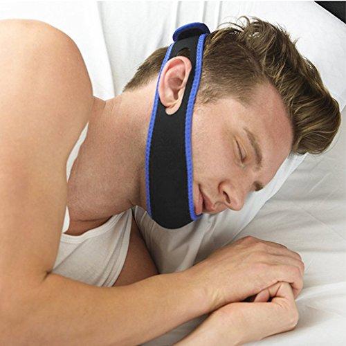 Anti Schnarch Band, Einstellbare Schnarchen Kinnbackenriemen Schnarchstopper Stirnband für Lösung Einfache Atmung und Schnarchen (Normal Size, Flat 66x7.5CM)