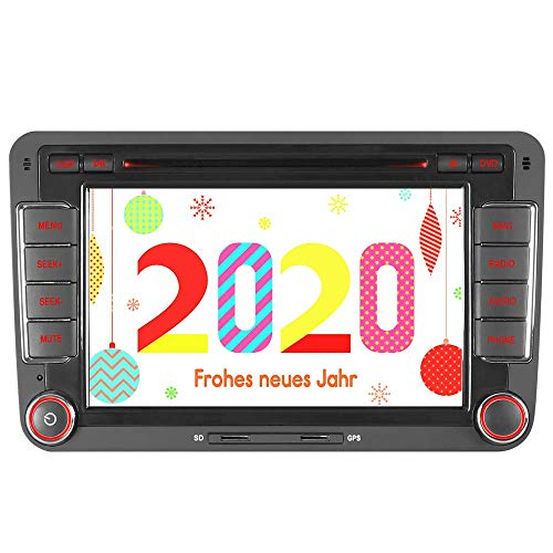 "Mit 16GB SD Karte 7"" AUTORADIO DVD GPS Navigation BT DAB VMCD Für VW Golf 5/6 V VI Passat B6 CC Tiguan Polo Jetta Up Touran Candy Sharan Amarok New Beetle 2 Scirocco EOS Skoda Seat V3"
