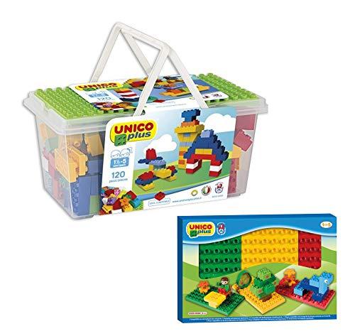 Unico Plus 8502 Box 120 TLG Bausteine + 3 Bodenplatten gratis