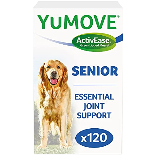 Lintbells | YuMOVE Senior Dog | High Strength Hip and Joint Supplement Designed for Older, Stiff Dogs, with Glucosamine, Chondroitin, Green Lipped Mussel | Aged 9+ | 120 Tablets
