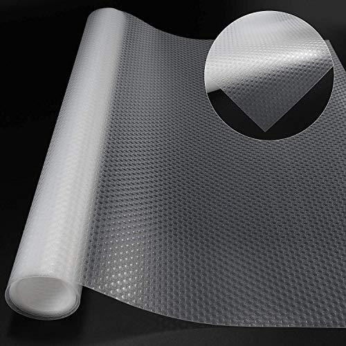 Wtrcsv Schubladenmatte, 2 Rolle, Zuschneidbar, Antirutschmatte für Schubladen Küche, Schubladeneinlage, 150 × 40cm, transparent