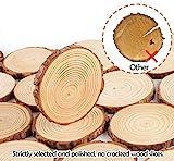 ilauke Holzscheiben 30 Stücke Holz Log Scheiben 8-9cm mit Loch und 10 mt Jute Seil Naturholzscheiben Holz Deko für DIY Handwerk Holz-Scheiben Hochzeit Mittelstücke Weihnachten Dekoration Baumscheibe - 4