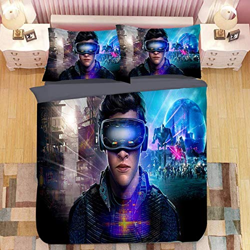 HDBUJ Gamer Movie Cover Soft Polyester Bedding, Duvet Cover With Zipper, Easy To Remove, Two Pillowcases 200X200Cm