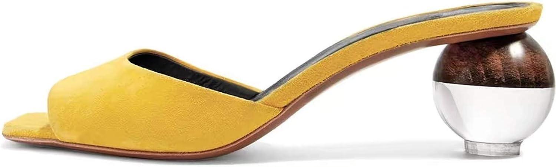 Axellion Mule Slipper for Women 現品 Round Abnormal Toe 新作 大人気 Sandals Heel