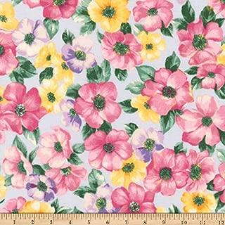 Robert Kaufman Woodside Blossom Flowers Fabric, Spring, Fabric By The Yard