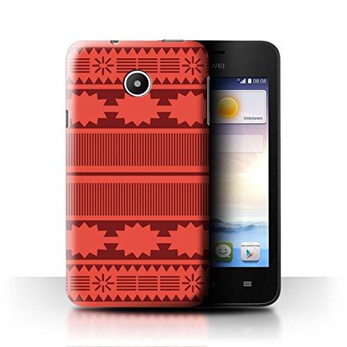 Stuff4® Hülle/Case für Huawei Ascend Y330 / Aztek/Prinzessin Kleid Muster/Karikatur Polynesische Prinzessin Kollektion