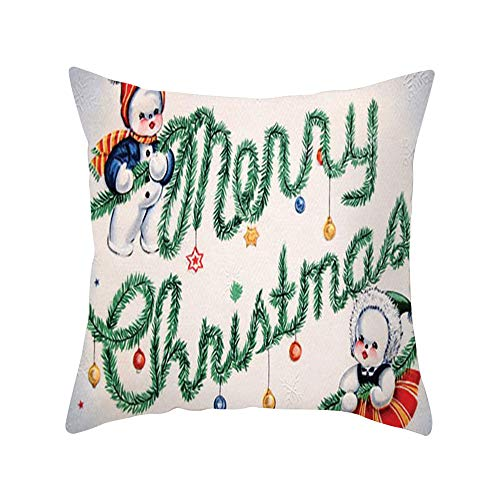 Kapian Kissenhülle Kissenbezug Weihnachten Bettwäsche aus Baumwolle Kissenbezug Taillenabdeckung...