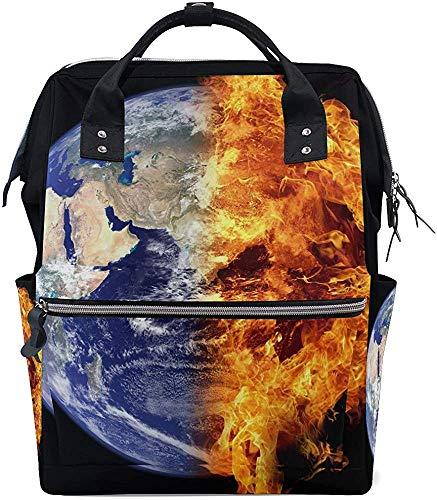 Backpack Earth Dad Care luiertas mummierugzak baby met grote inhoud luierdruk waterdicht stijlvolle Mama's mummiezak draagtas Muti-Function Reisrugzak