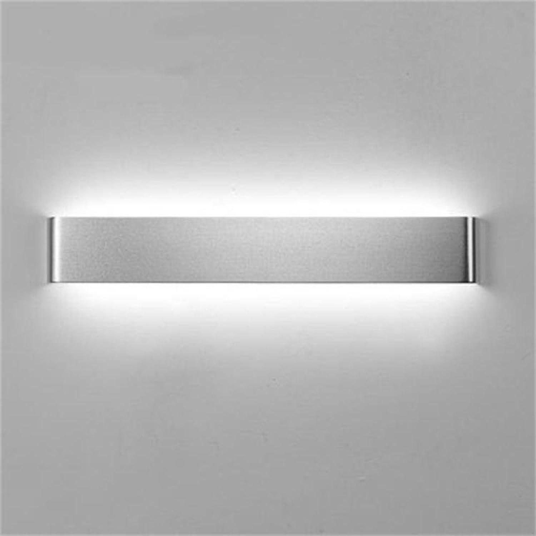 Wandleuchte Moderne Und Einfach, LED Wandleuchte, Aluminium, Ganglichter, Kreativitt, Bad WC, Spiegel Vorderen Leuchten,Silber-8W