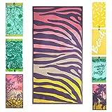jilda-tex Toalla de playa, 90 x 180 cm, toalla de baño, toalla de playa, toalla de mano, 100% algodón orgánico, de rizo, de fácil cuidado (Safari)