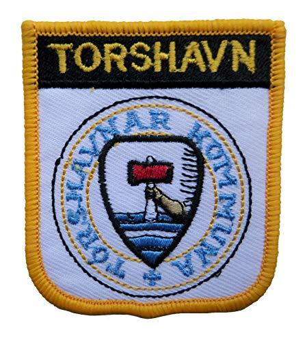 1000 Flaggen Torshavn Faroe Islands Shield bestickter Aufnäher