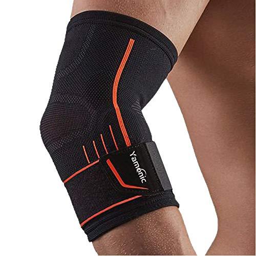 Armbågsstödärm, justerbar armbågsstöd enkel arm ärm för tennisarmbåge, golfarmbåge, tyngdlyftning, tendinit, lindring för ledvärk – stor (30–35 cm)