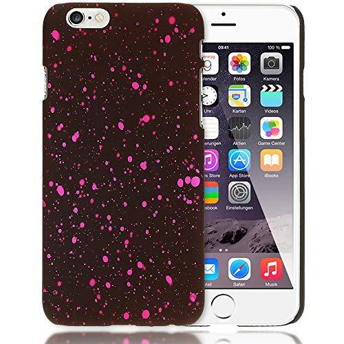 NALIA Funda Estrella Compatible con iPhone 6 6S, Glitter Carcasa Delgado Cubierta Protectora 3D Hard-Case Liquid Silicona, Movil Telefono Cover Ultra-Fina Purpurina Estuche, Color:Pink Rosa