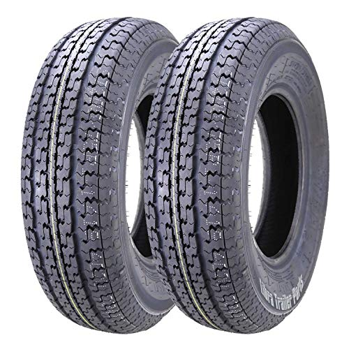 2 New Premium WINDA Trailer Tires ST 205 75R15 / 8PR Load Range D Steel Belted w/Scuff Guard