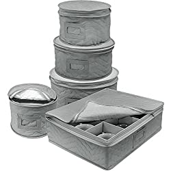 Image of Sorbus Dinnerware Storage...: Bestviewsreviews