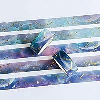 1.5CM * 5M1ロールナイトスターリースカイマスキング和紙テープステッカーアルバムスクラップブッキング装飾スティックラベル