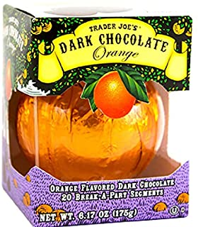 Trader Joe's Seasonal All Natural Dark Chocolate Orange with 20 Break-apart Segments..