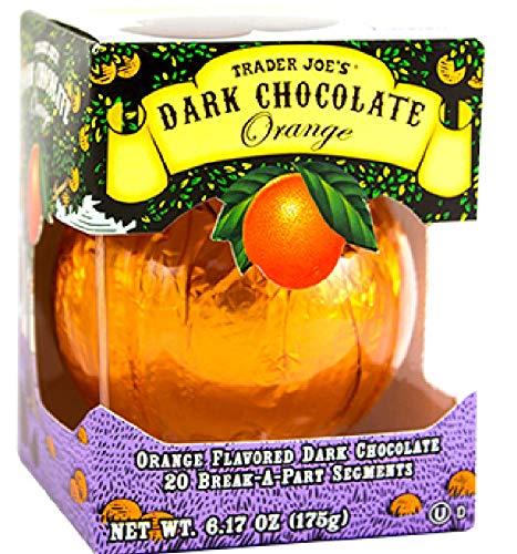 Trader Joe's Seasonal All Natural Dark Chocolate Orange with 20 Break-apart Segments / No Artificial Colors or Flavors / No Preservatives