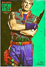 The Expendables 3 Dolph Lundgren as Gunner Jensen Standing Holding Knife Multi Color 8 x 10 Inch Photo