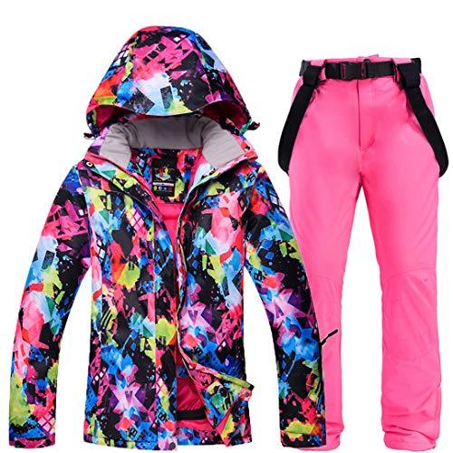 Damen Skianzüge wasserdichte Winddichte Schneeanzüge für Schneesport Snowboardjacken Skihosen Sets Jackets Pants PK M