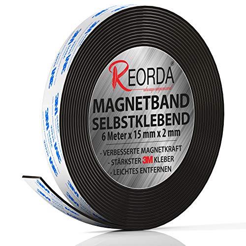 Reorda - Nastro adesivo magnetico - Banda magnetica autoadesiva con resistenza magnetica ottimizzata - Nastro calamita autoadesivo - può essere tagliato su misura individualmente