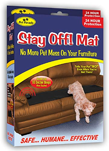 Pet Parade Stay Off! Mat - Indoor Pet Training Sonic Repellent for Dogs and Cats