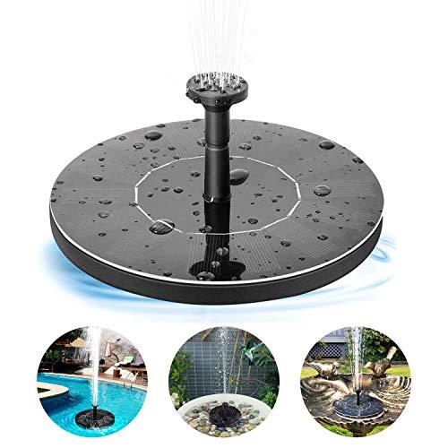 OMZGXGOD Fontana Solare,1.4W Pompa Acqua Galleggiante, Fontane solari galleggianti per stagni,per Bagno per Uccelli con 4 Ugelli, per Vasche da Bagno per Pond Giardino Patio Piscina Prato