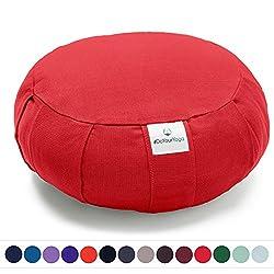 Coussin Zafu »Moogli« / Coussin de méditation de yoga classique ou coussin de yoga / 100 % coton / 35 cm x 15 cm / Disponible dans de nombreuses couleurs magnifiques