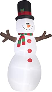 Giant Inflatable 12' Snowman With Stick Arms By Gemmy