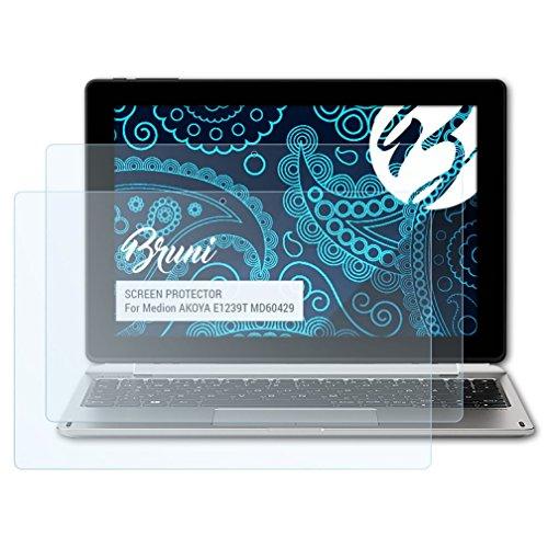 Bruni Schutzfolie kompatibel mit Medion AKOYA E1239T MD60429 Folie, glasklare Displayschutzfolie (2X)