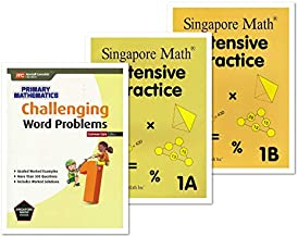 Singapore Math 3 Books Set for Grade 1 - Singapore Math Intensive Practice 1A & 1B, Challenging Word Problems Grade 1
