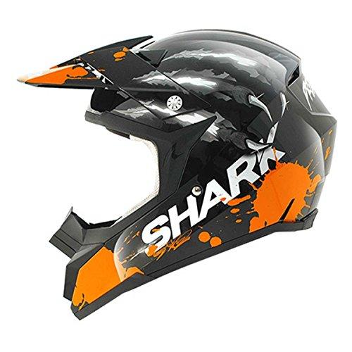 Shark Sx2 Predator Crosshelm, Farbe schwarz-orange, Größe M(57/58)