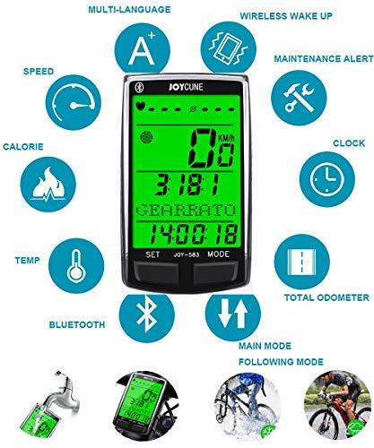 ARCELI SD-583 Fahrrad-Multifunktions-Bluetooth-Codetabelle HD Großbild-Hintergrundbeleuchtung Mehrsprachige Stoppuhr
