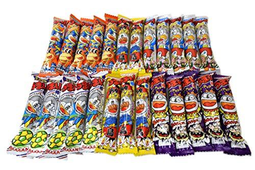 Umaibo, Japanese popular snack food, 25 packs(5 taste×5 packs) No.a138