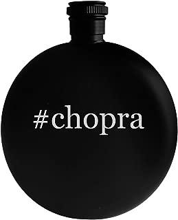 #chopra - 5oz Hashtag Round Alcohol Drinking Flask, Black