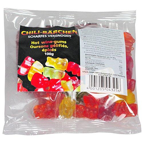 Scharfe Gummis, 100g Megatüte Gummi Bärchen mit Chili