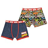 Character - Bóxers - para Hombre Marvel Comics 2 Pack Boxers Small