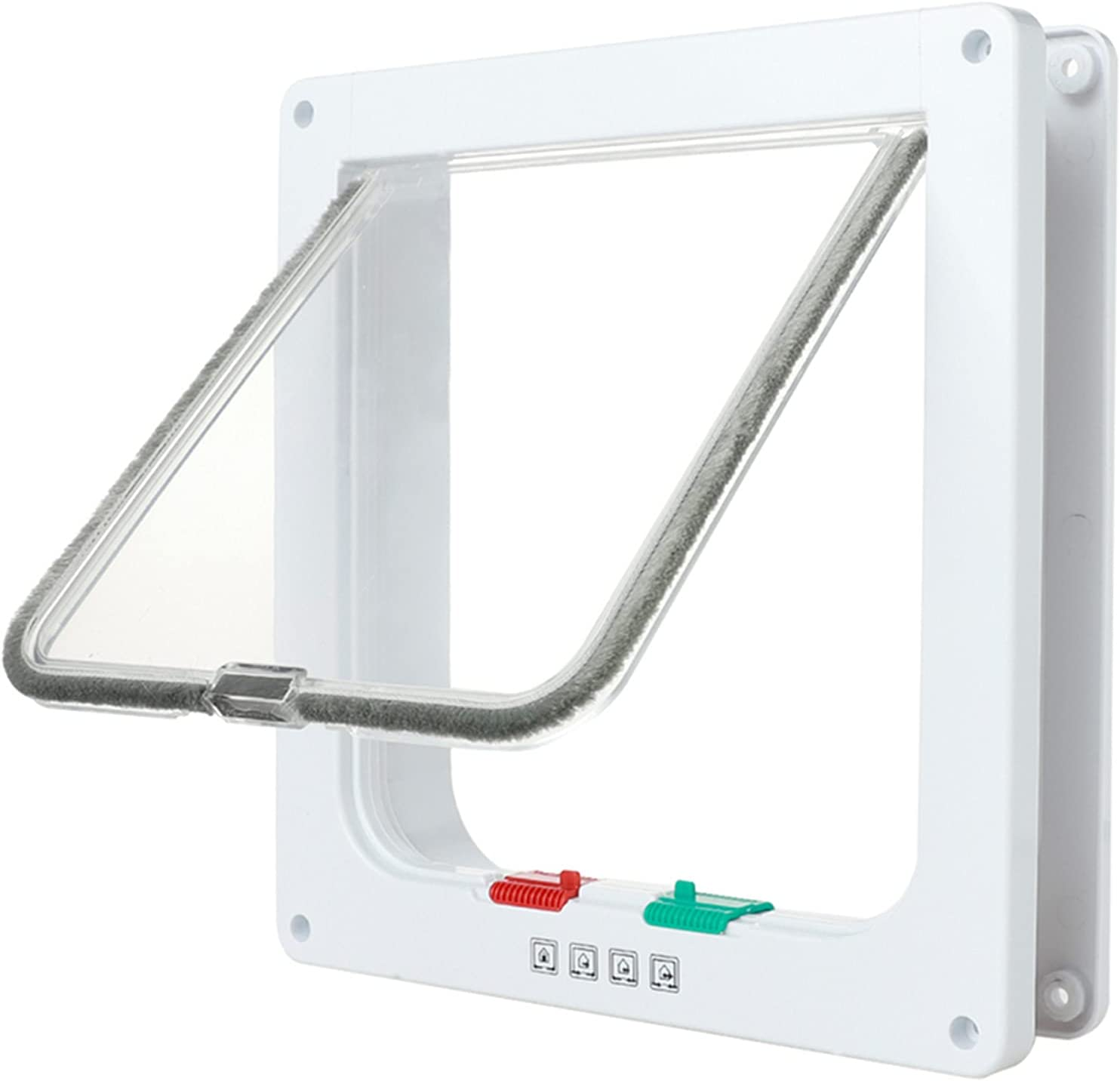 Yabuy Manufacturer OFFicial shop Dog and Cat Flap 1 year warranty Door Way Inte Locking 4 for