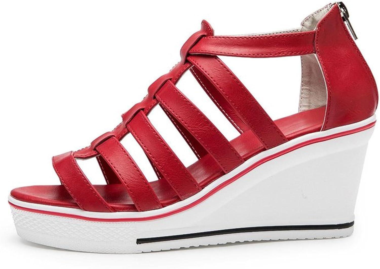 Women's High-Heeled Platform Wedge Fashion Sneaker Pump shoes Sandal