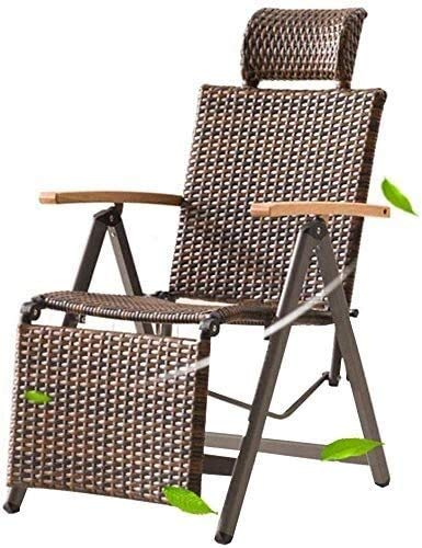 Aoyo Liegesessel, Sessel, Stühle Rattan Polyethylen Stühle Liegestühle Für Garten Im Freien Braun (Color : Brown)