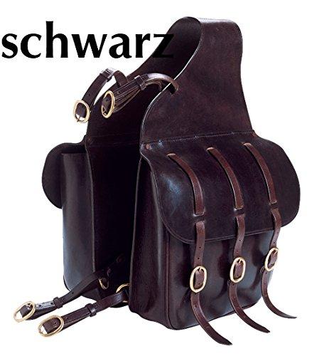 Reitsport Amesbichler Excelsior Doppelpacktasche Satteltasche für Pferde, schwarz