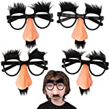 Kicko Disguise Glasses with Funny Nose - Eyebrows and Mustache - 12 Pack - for Kids Party Favor, Fun, Fiesta, Costume, Halloween, Cinco de Mayo