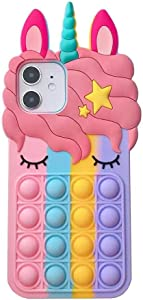 Semeving for iPhone 11 Case,Fidget Toy Style Case for iPhone 11 6.1inch,Cute Silicone Protective Case for iPhone 11 for Women/Men/Girls/Boys