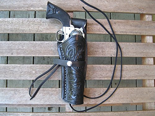 """Western Express – Right – for 6"""" Black Tooled Leather..."""